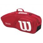 Wilson Team II Red 3 Pack Tennis Bag (Red/ White) - Tennis Racquet Bags