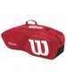 Wilson Team II Red 3 Pack Tennis Bag (Red/ White) - Team Collection
