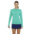 Bloq-UV 24/7 Long Sleeve Top (Green) - Women's Outerwear Warm-Ups Tennis Apparel
