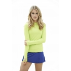 Bloq-UV 24/7 Long Sleeve Top (Key Lime) - Women's Outerwear Warm-Ups Tennis Apparel