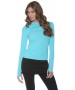 Bloq-UV 24/7 Long Sleeve Top (Light Turquoise) - Bloq-UV Women's Long-Sleeve Shirts
