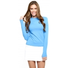 Bloq-UV 24/7 Long Sleeve Top (Ocean Blue) - Women's Outerwear Warm-Ups Tennis Apparel