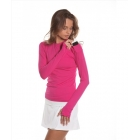 Bloq-UV 24/7 Long Sleeve Top (Passion Pink) - Women's Outerwear Warm-Ups Tennis Apparel