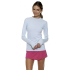 Bloq-UV 24/7 Long Sleeve Top (Soft Gray) - Women's Outerwear Warm-Ups Tennis Apparel