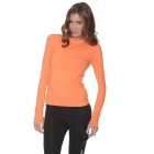Bloq-UV 24/7 Long Sleeve Top (Tangerine) - Women's Outerwear Warm-Ups Tennis Apparel