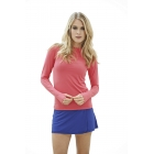 Bloq-UV 24/7 Long Sleeve Top (Watermelon) - Women's Outerwear Warm-Ups Tennis Apparel