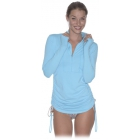Bloq-UV Women's Cover Up (Light Turquoise) - Women's Tennis Apparel