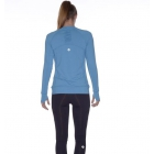 Bloq-UV Long Sleeve Tennis Pullover (Teal) - Bloq-UV Tennis Apparel