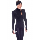 Bloq-UV Turtleneck Long Sleeve Top (Black) - Women's Warm-Ups