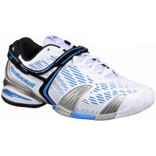 Babolat Men's Propulse 4 Tennis Shoe (White/ Blue)