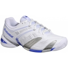 Babolat Women's V-Pro 2 All Court Tennis Shoes (White/ Blue) - Lightweight Tennis Shoes