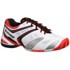 Babolat Men's V-Pro 2 Clay Tennis Shoes (White/ Red) - Types of Tennis Shoes