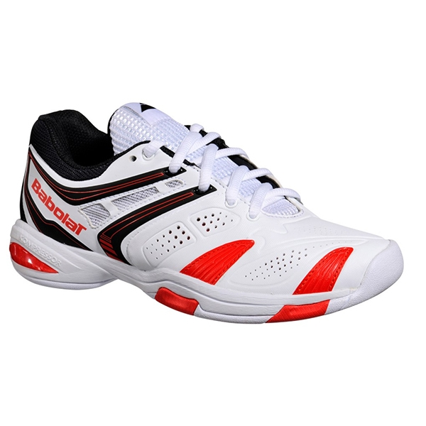 Babolat V-Pro 2 Junior Tennis Shoes (White/ Red)