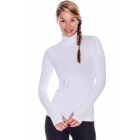 Bloq-UV Turtleneck Long Sleeve Top (White) - Women's Warm-Ups