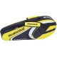 Babolat Club Line Racquet Holder x3 (Yellow) - Babolat Club Tennis Bags