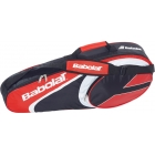 Babolat Club Line Racquet Holder x3 (Red) - 3 Racquet Tennis Bags