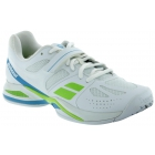 Babolat Women's Propulse BPM All Court Tennis Shoe (White/ Green/ Blue) - Babolat Propulse Tennis Shoes