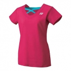 Yonex Women's Melbourne Tournament Style Cap Sleeve Tennis Top (Dark Pink) - Yonex