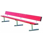 21' Permanent Bench w/Back (Assorted Colors) - Tennis Equipment Types