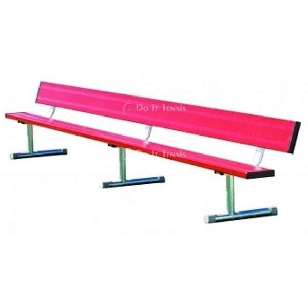 21' Permanent Bench w/Back (Assorted Colors), #BEPB21C