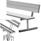 21' Permanent Bench w/Back - Tennis Benches 7.5+ Feet