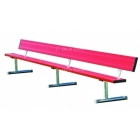 21' Permanent Bench w/o Back (Assorted Colors), #BEPD21C - Tennis Benches 7.5+ Feet