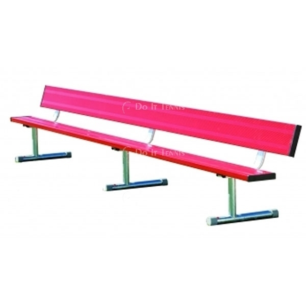 21' Permanent Bench w/o Back (Assorted Colors), #BEPD21C