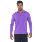 Bloq-UV Men's Long Sleeve Collared Tee (Purple) - Bloq-UV Tennis Apparel