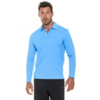 Bloq-UV Men's Long Sleeve Collared Tee (Teal) - Men's Long-Sleeve Shirts