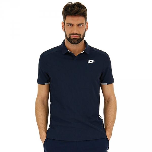Lotto Men's Squadra Tennis Polo (Navy Blue)