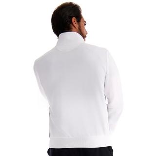 Lotto Men's Squadra Full Zip Tennis Sweatshirt (Brilliant White)