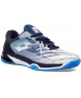 Lotto Men's Mirage 100 Clay Tennis Shoes (All White/Diva Blue/Navy)  - Lightweight Tennis Shoes