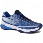 Lotto Men's Mirage 300 Speed Tennis Shoes (Navy Blue/All White/Nebulas Blue) -