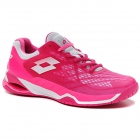 Lotto Women's Mirage 100 Speed Tennis Shoes (Glamour Pink/All White/Vivid Fuchsia) -
