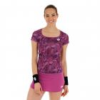 Lotto Women's Printed Top Ten Tennis Tee (Purple Willow) -