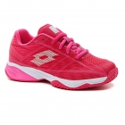 Lotto Junior Mirage 300 ALR Tennis Shoes (Vivid Fuchsia/All White/Glamour Pink) -