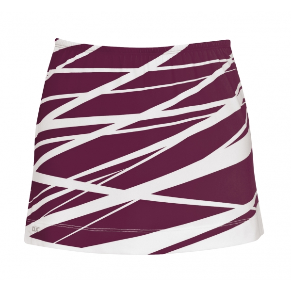 DUC Lightning Reversible Women's Skirt (Maroon)