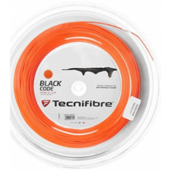 Tecnifibre Black Code 17g Tennis String, Reel (Fire)