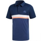 Adidas Men's Club Color Block Tennis Polo (Collegiate Navy) - Men's Polo Shirts