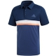 Adidas Men's Club Color Block Tennis Polo (Collegiate Navy) - Tennis Apparel