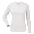 DUC Kong-Block Women's Longsleeve (White) - Women's Tops Sleeveless Shirts Tennis Apparel