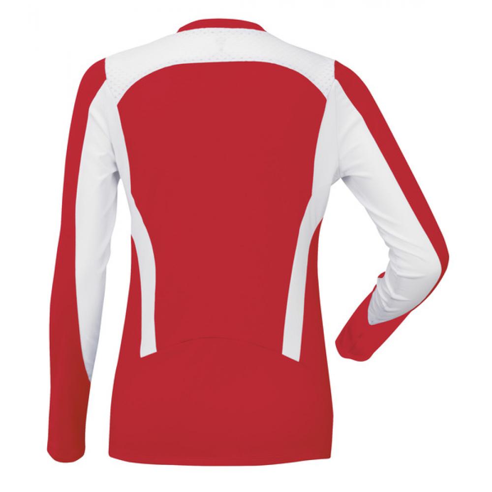DUC Roll Women's Longsleeve (Red/ White)