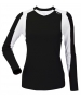 DUC Roll Women's Longsleeve (Black/ White) - DUC Tennis Apparel