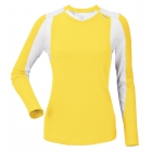 DUC Roll Women's Longsleeve (Gold/ White) - DUC Women's Team Tennis Tops