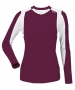 DUC Roll Women's Longsleeve (Maroon/ White) - DUC Tennis Apparel