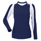 DUC Roll Women's Longsleeve (Navy/ White)  - DUC Team Tennis Apparel