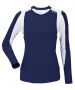 DUC Roll Women's Longsleeve (Navy/ White) - Women's Team Apparel
