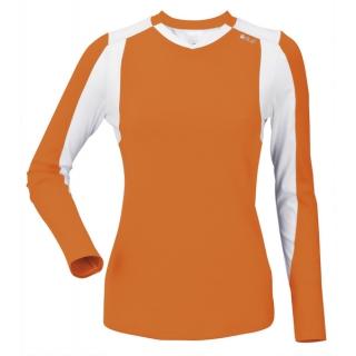 DUC Roll Women's Longsleeve (Orange/ White)