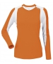 DUC Roll Women's Longsleeve (Orange/ White) - DUC Tennis Apparel