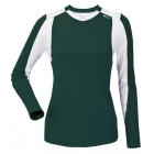 DUC Roll Women's Longsleeve (Pine/ White) - DUC Women's Team Tennis Tops
